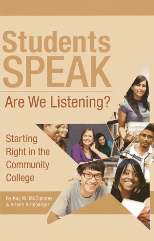 Cover image for the book Students Speak: Are We Listening?