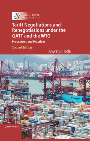 Cover image for the book Tariff Negotiation and Renegotiation: Procedures and Practices, Second Edition