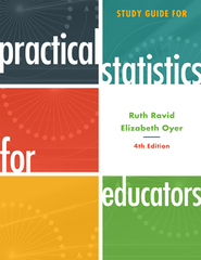 Cover image for the book Study Guide for Practical Statistics for Educators, 4th Edition