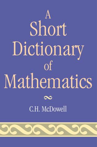Cover image for the book Short Dictionary of Mathematics