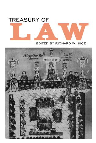 Cover image for the book Treasury of Law