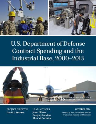 Cover image for the book U.S. Department of Defense Contract Spending and the Industrial Base, 2000-2013