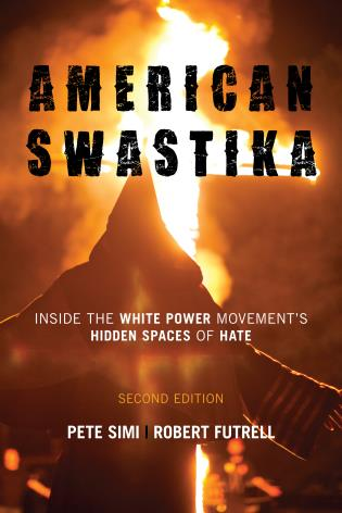 Cover image for the book American Swastika: Inside the White Power Movement's Hidden Spaces of Hate, Second Edition
