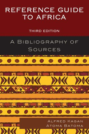 Cover image for the book Reference Guide to Africa: A Bibliography of Sources, Third Edition