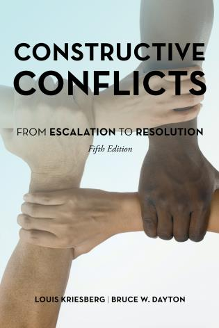 Cover image for the book Constructive Conflicts: From Escalation to Resolution, Fifth Edition