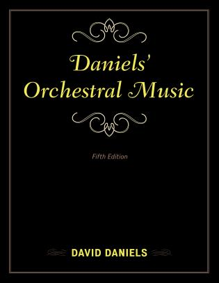 Cover image for the book Daniels' Orchestral Music, Fifth Edition