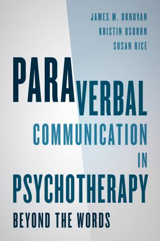 Cover image for the book Paraverbal Communication in Psychotherapy: Beyond the Words