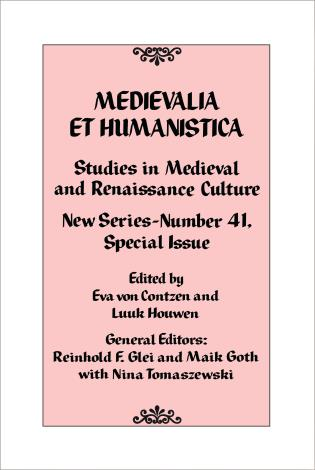 Cover image for the book Medievalia et Humanistica, No. 41: Studies in Medieval and Renaissance Culture: New Series