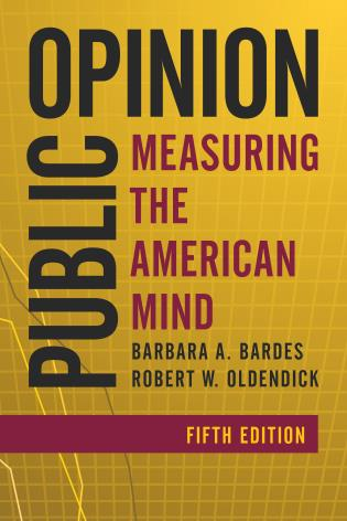 Cover image for the book Public Opinion: Measuring the American Mind, Fifth Edition