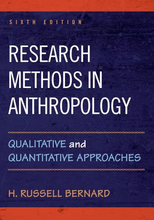 Cover image for the book Research Methods in Anthropology: Qualitative and Quantitative Approaches, Sixth Edition
