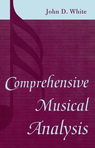 Cover image for the book Comprehensive Musical Analysis