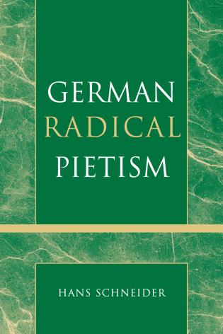Cover image for the book German Radical Pietism