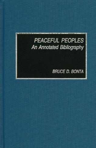 Cover image for the book Peaceful Peoples: An Annotated Bibliography