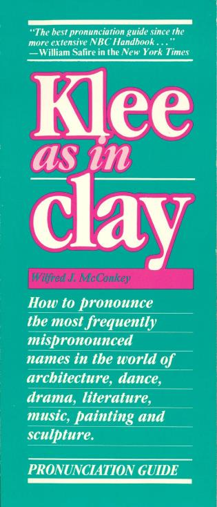 Cover image for the book Klee as in Clay, 2nd Edition
