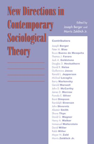 Cover image for the book New Directions in Contemporary Sociological Theory