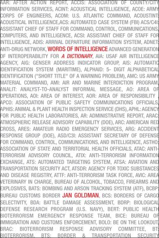 Words of Intelligence: A Dictionary - 9781461729440