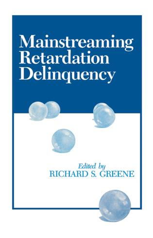 Cover image for the book Mainstreaming Retardation Delinquency