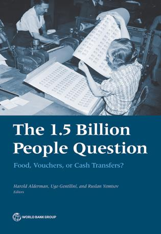Cover image for the book The 1.5 Billion People Question: Food, Vouchers or Cash Transfers