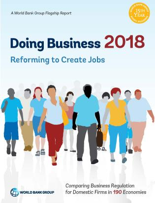 Cover image for the book Doing Business 2018: Reforming to Create Jobs