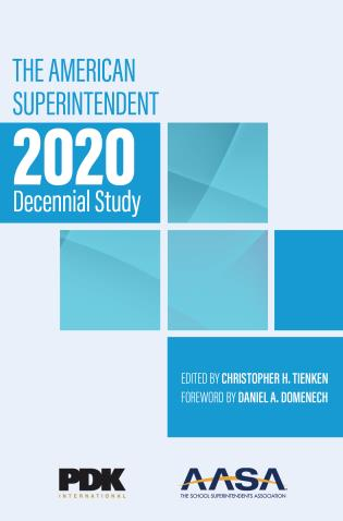 Cover image for the book The American Superintendent 2020 Decennial Study