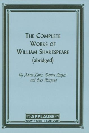 Cover image for the book The Compleat Works Of Willm Shkspr (Abridged), Acting Edition