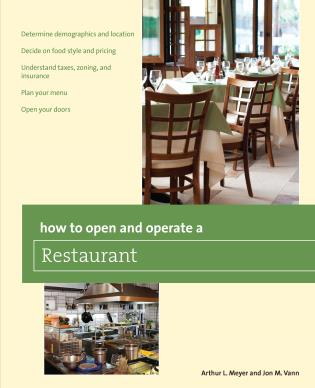 Cover image for the book How to Open and Operate a Restaurant, First Edition