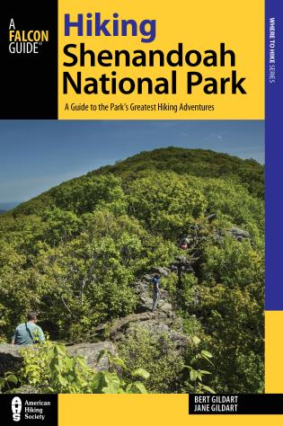 Cover image for the book Hiking Shenandoah National Park: A Guide to the Park's Greatest Hiking Adventures, 5th Edition