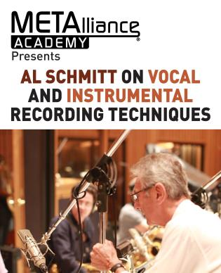 Cover image for the book Al Schmitt on Vocal and Instrumental Recording Techniques