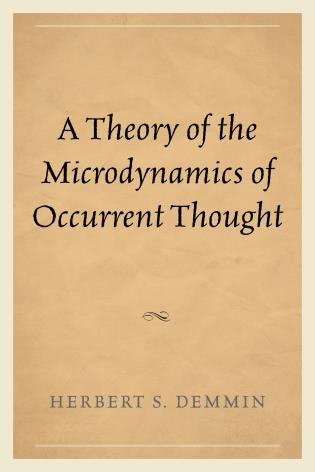 Cover image for the book A Theory of the Microdynamics of Occurrent Thought