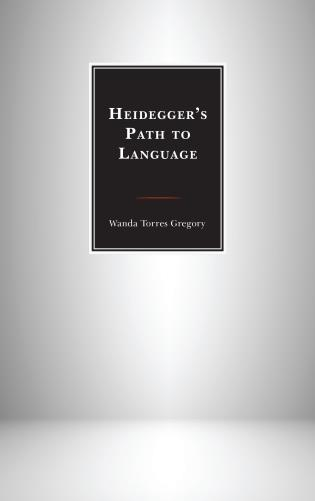 Cover image for the book Heidegger's Path to Language