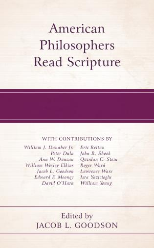 Cover image for the book American Philosophers Read Scripture
