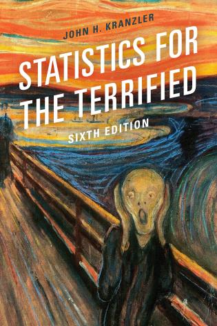 Cover image for the book Statistics for the Terrified, Sixth Edition