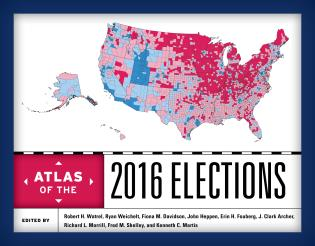 Cover image for the book Atlas of the 2016 Elections