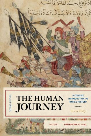 Cover image for the book The Human Journey: A Concise Introduction to World History, Prehistory to 1450, Volume 1, Second Edition
