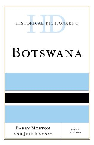Cover image for the book Historical Dictionary of Botswana, Fifth Edition