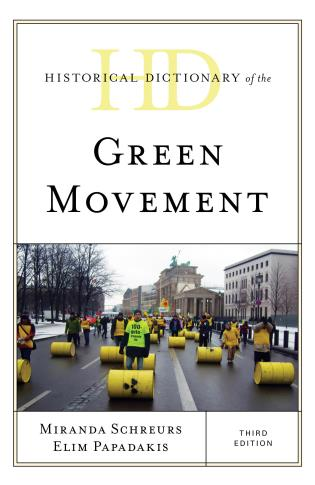 Cover image for the book Historical Dictionary of the Green Movement, Third Edition