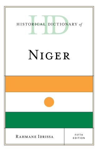 Cover image for the book Historical Dictionary of Niger, Fifth Edition