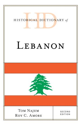Cover image for the book Historical Dictionary of Lebanon, Second Edition