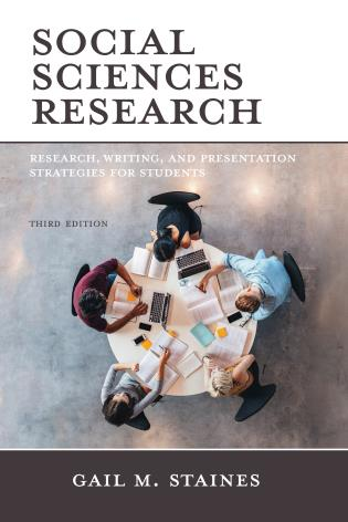 Cover image for the book Social Sciences Research: Research, Writing, and Presentation Strategies for Students, Third Edition