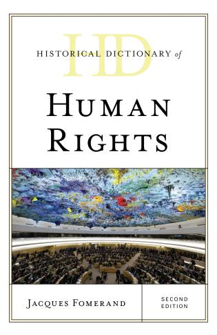 Cover image for the book Historical Dictionary of Human Rights, Second Edition