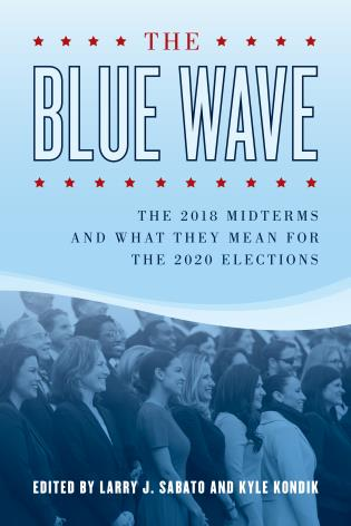 Cover image for the book The Blue Wave: The 2018 Midterms and What They Mean for the 2020 Elections