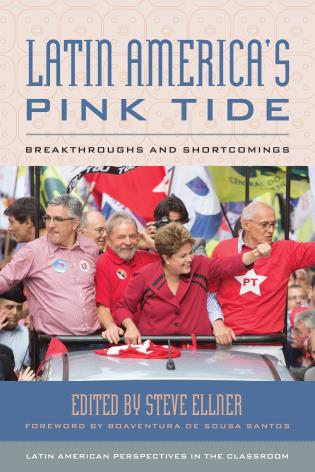 Cover image for the book Latin America's Pink Tide: Breakthroughs and Shortcomings