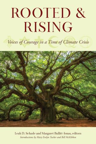 Cover image for the book Rooted and Rising: Voices of Courage in a Time of Climate Crisis