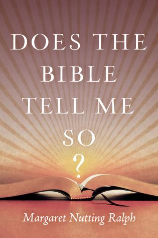 Cover image for the book Does the Bible Tell Me So?