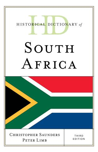 Cover image for the book Historical Dictionary of South Africa, Third Edition