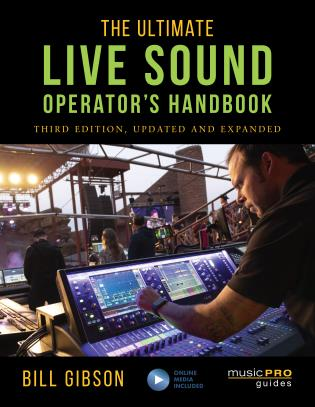 Cover image for the book The Ultimate Live Sound Operator's Handbook, 3rd Edition