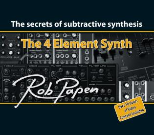 Cover image for the book The 4 Element Synth: The Secrets of Subtractive Synthesis