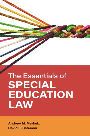 Cover image for the book The Essentials of Special Education Law