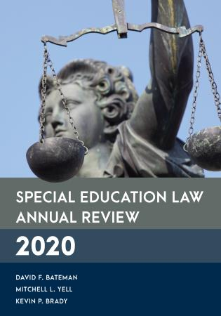 Cover image for the book Special Education Law Annual Review 2020