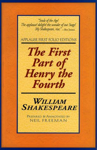 Cover image for the book The First Part of Henry the Fourth